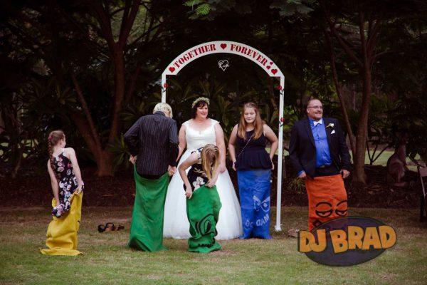Sack Races at Wedding Ceremony